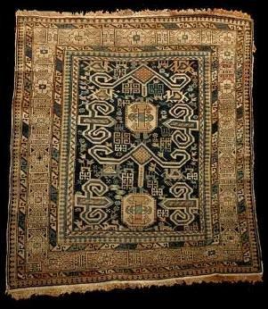7: Antique Caucasian Shriven Rug