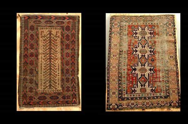 18: Two Rugs 1 Caucasian and 1 Beluchistan