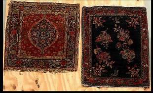 Two Sarouk Small Mats