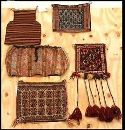 21: Lot of Five Saddle Bags