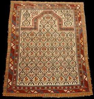 79: Caucasian Shriven Prayer Rug