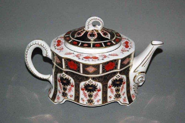 50A: ROYAL CROWN DERBY PORCELAIN TEA POT