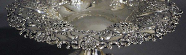 224: PAIR OF TIFFANY & CO. STERLING SILVER FRUIT STANDS - 4