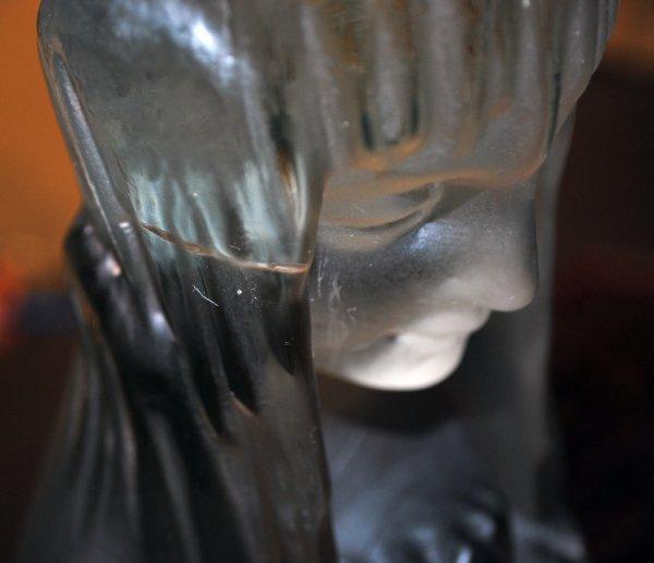 252: R. LALIQUE GLASS FIG. SOURCE DE LA FONTAINE CLYTIE - 3
