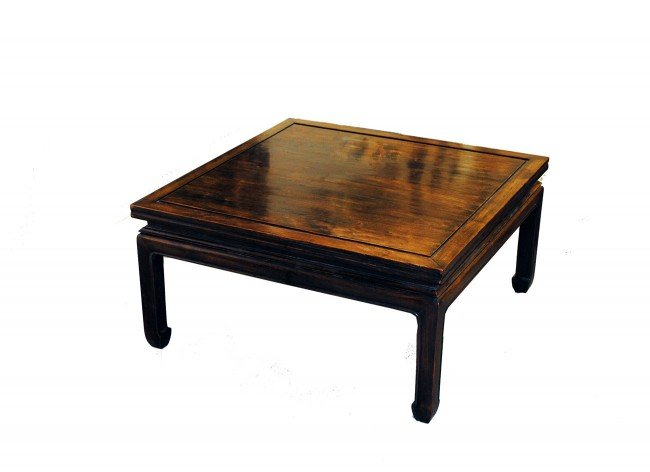 23: MING STYLE HARDWOOD LOW TABLE