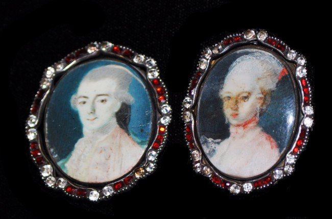 316A: PAIR OF MINIATURE PAINTINGS ON IVORY