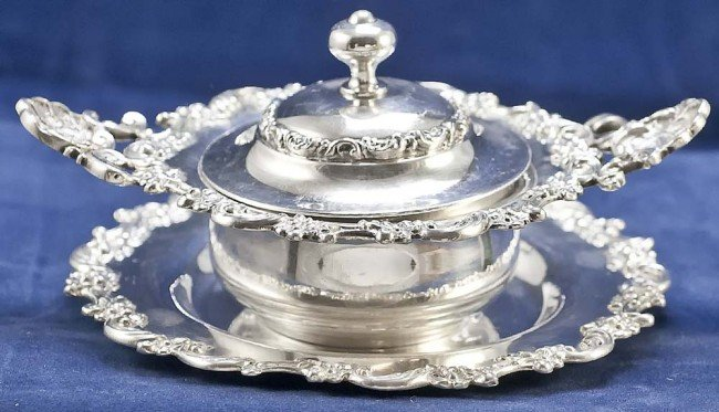 16: SET OF 12 STERLING SILVER RAMIKENS, COVERS & STANDS