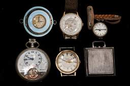 281: GROUP OF SIX ASSORTED TIME PIECES