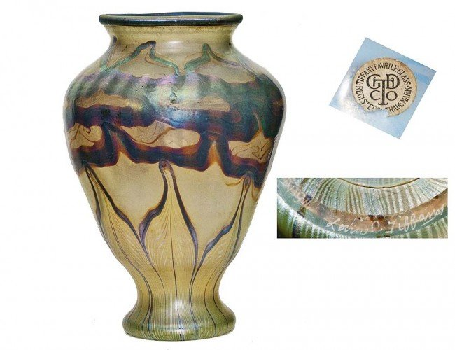 301: TIFFANY STUDIOS FAVRILLE GLASS VASE