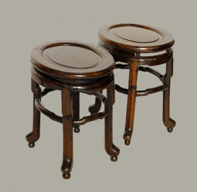 324: PAIR OF ROSEWOOD LOW TABLES