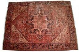 104: SEMI-ANTIQUE PERSIAN HERIZ CARPET