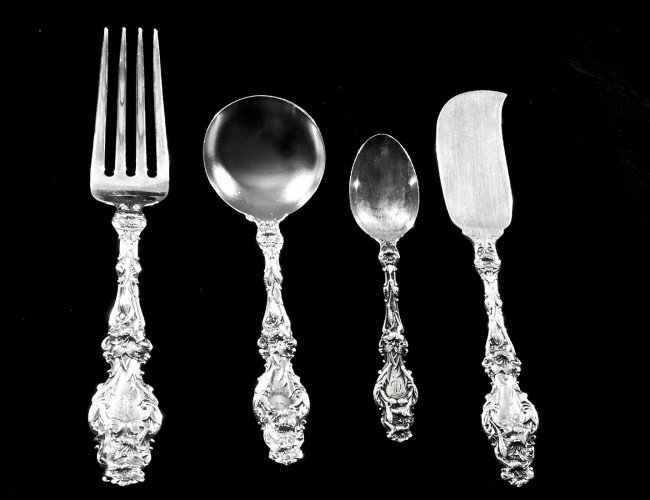 153: THIRTY-EIGHT PC STERLING SILVER PART FLATWARE SET