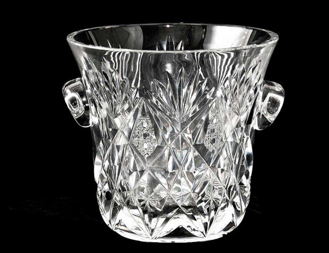 1: ST. LOUIS CUT CRYSTAL CHAMPAGNE BUCKET