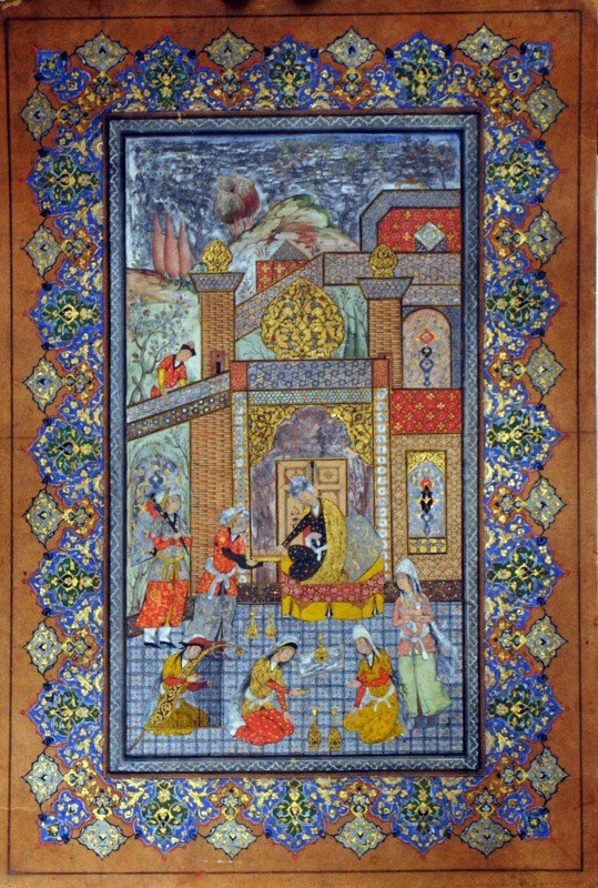 15: ANTIQUE PERSIAN ILLUMINATED MANUSCRIPT PAINTING ON