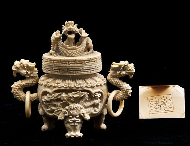 21: CARVED IVORY KORO