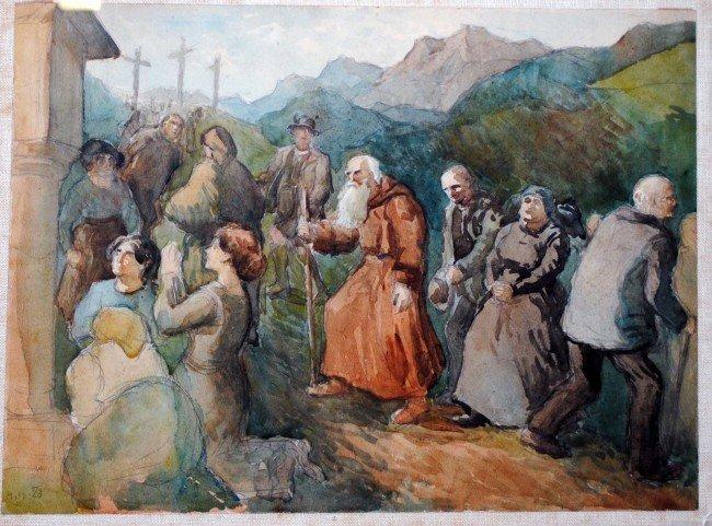 315: ATTRIBUTED TO OSKAR KOKOSCHKA (American. 1886-1980