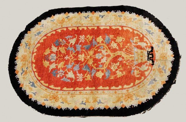 22: SEMI-ANTIQUE CHINESE RUG