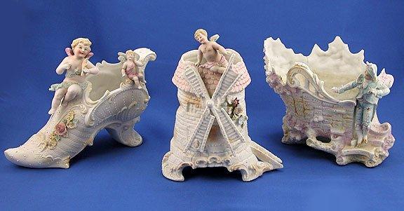 1: Three Pieces of Bisque Figurines