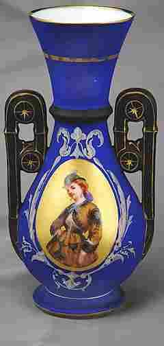 19th Century French Portrait Vase