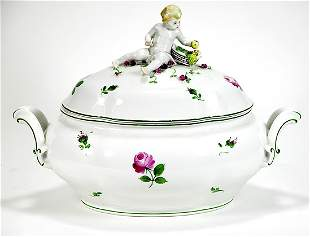 Circa 1920s Royal Vienna Tureen with Cover