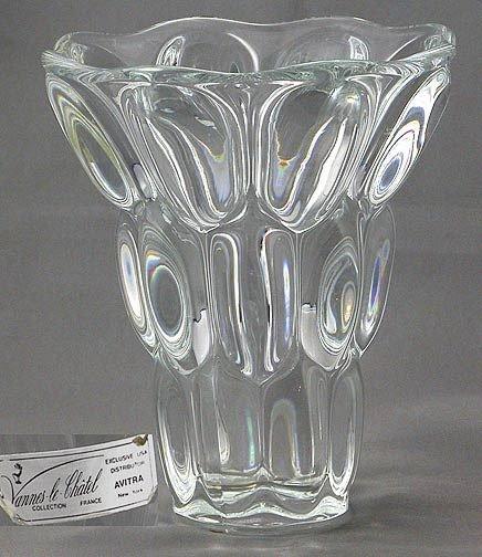18: Unusual Signed Crystal Vase