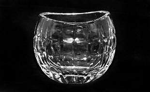 Waterford 20th Century Crystal Boat Shape Vase