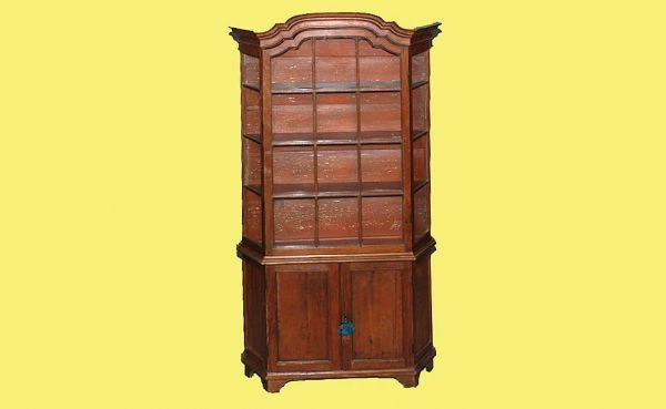 51: Early 19th C Continental Tall Pine Cabinet