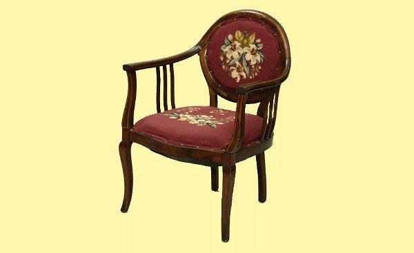 99: Antique Edwardian Style Mahogany Chair