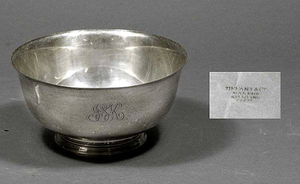 116: Tiffany & Co. makers Sterling Bowl
