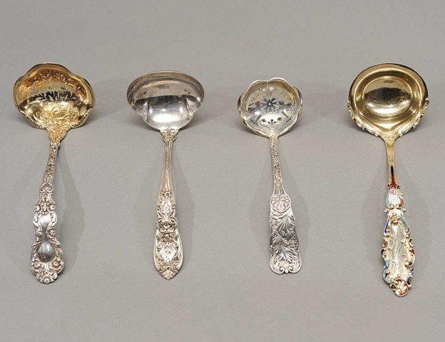 302: GROUP OF FOUR STERLING SILVER LADLES