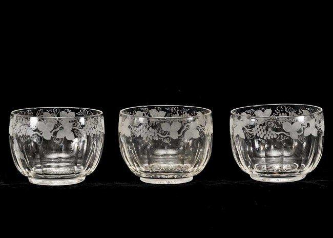 309: SET OF TWELVE HAWKES GLASS FRUIT BOWLS