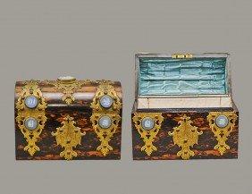 324: BRASS MOUNTED REGENCY ROSEWOOD LETTER BOX