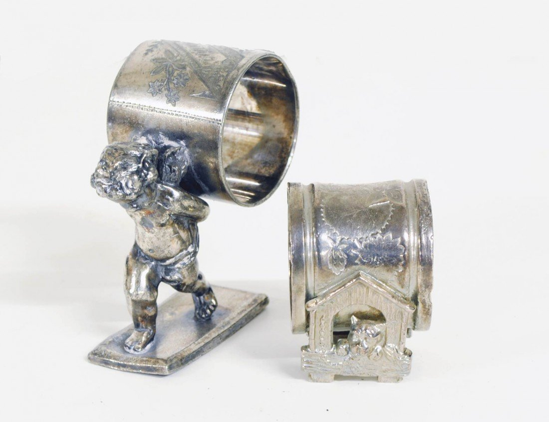 2: TWO VICTORIAN SILVER PLATED NAPKIN RINGS