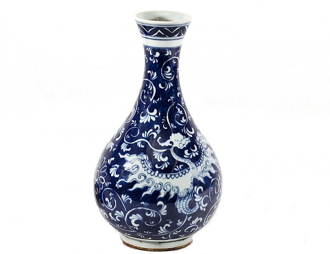 3: BLUE AND WHITE PORCELAIN VASE