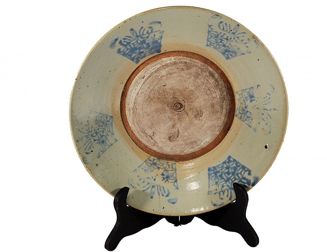 7: BLUE AND CELADON POTTERY DISH