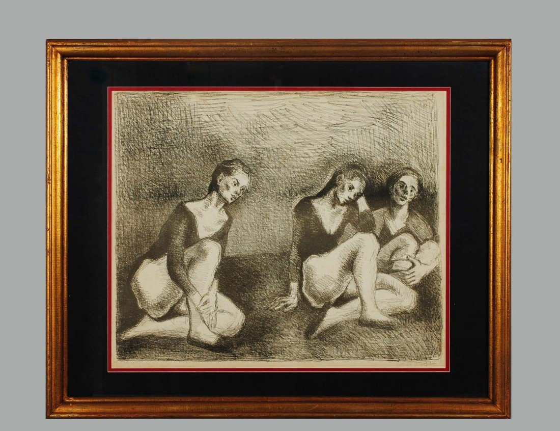 21: MOSES SOYER, N.A. (American. 1899-1974)