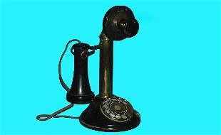 Antique Automatic Electric Candlestick Telephone