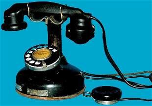 Antique French Etabl Cradle Telephone