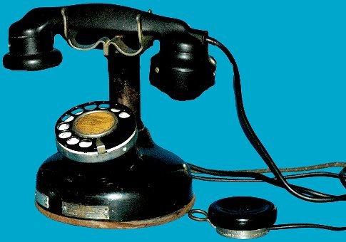 5: Antique French Etabl Cradle Telephone