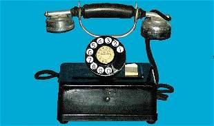 Antique Western Electric Black Cradle Telephone
