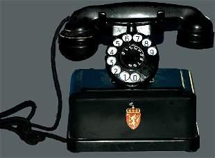 European Antique Cradle Square Base Telephone