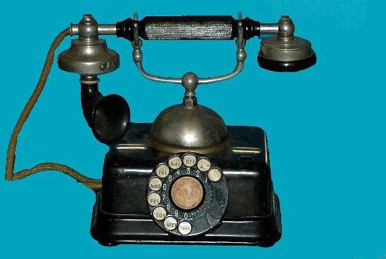 12: Antique European Kjobenhavns Cradle Telephone
