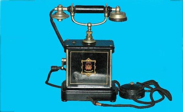 13: Antique Jydsk Swedish Hand Crank Cradle Telephone