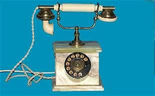 Antique Onyx Cradle Telephone
