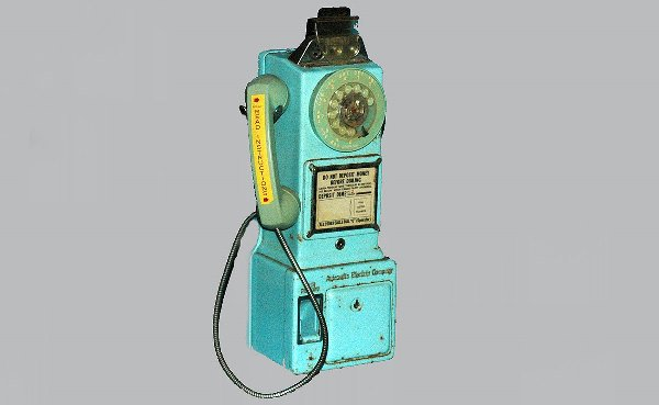 24: Antique Western Electric Blue Pay Phone