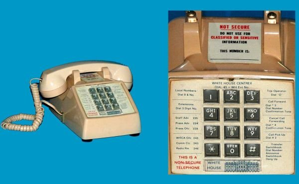 37: 5 Western Electric White House Cradle Telephones