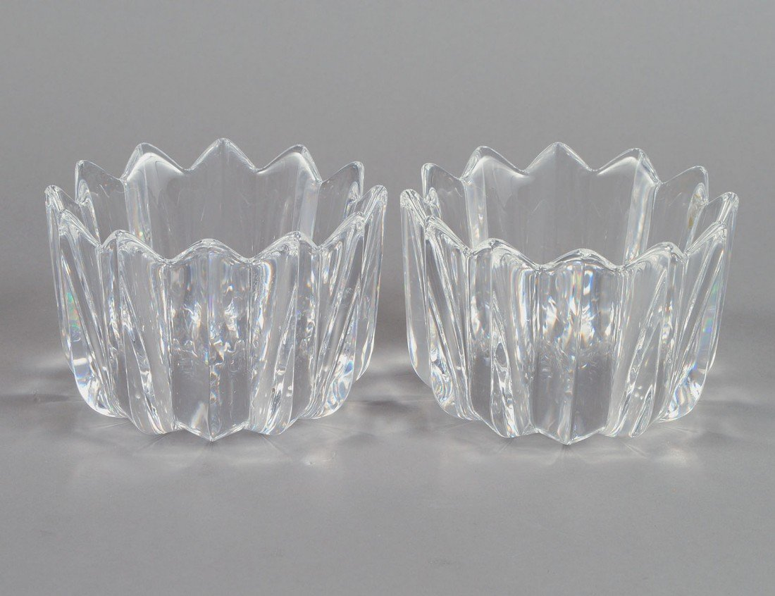 9: PAIR OF ORREFORS CRYSTAL BOWLS