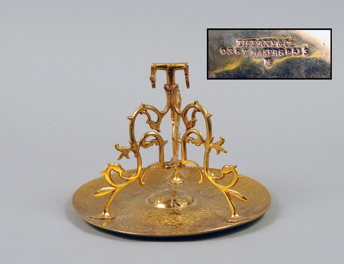 20: TIFFANY & CO. GILT BRONZE TABLE STAND