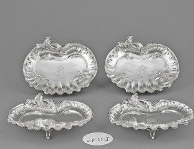 SET OF FOUR CONTINENTAL SILVER FOOTED DISHES
