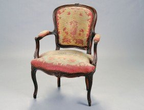 LOUIS XV STYLE FRUITWOOD FAUTEUIL